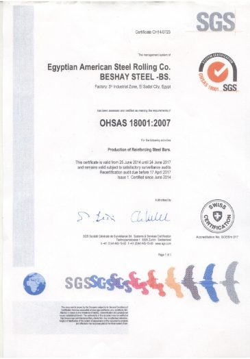 ISO 18001:2007 Occupational Health and Safety Management Systems